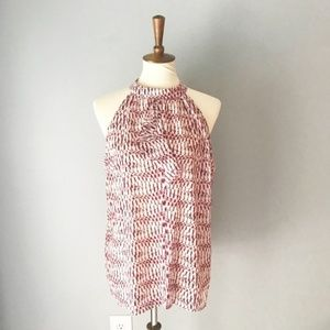 NWT BCBG Max Azria high neck patterned tank top